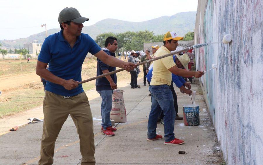 Encabeza ALJ tequio para rescatar Unidad Deportiva en Xoxocotlán