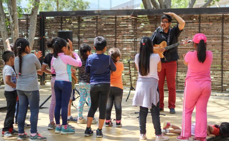 Ofrece Administración conciertos infantiles en parques públicos