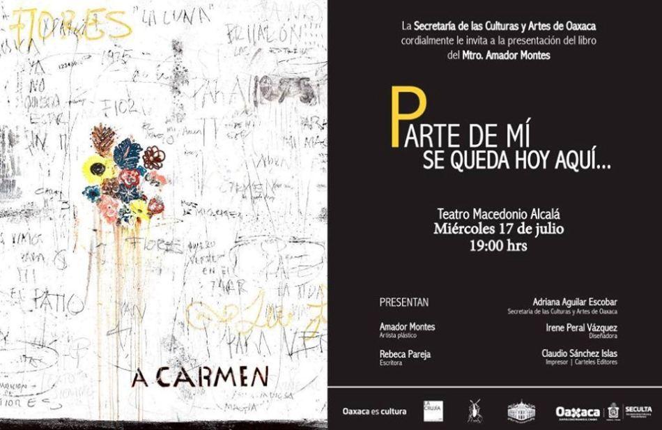 Invita Seculta a la presentación del libro de Amador Montes