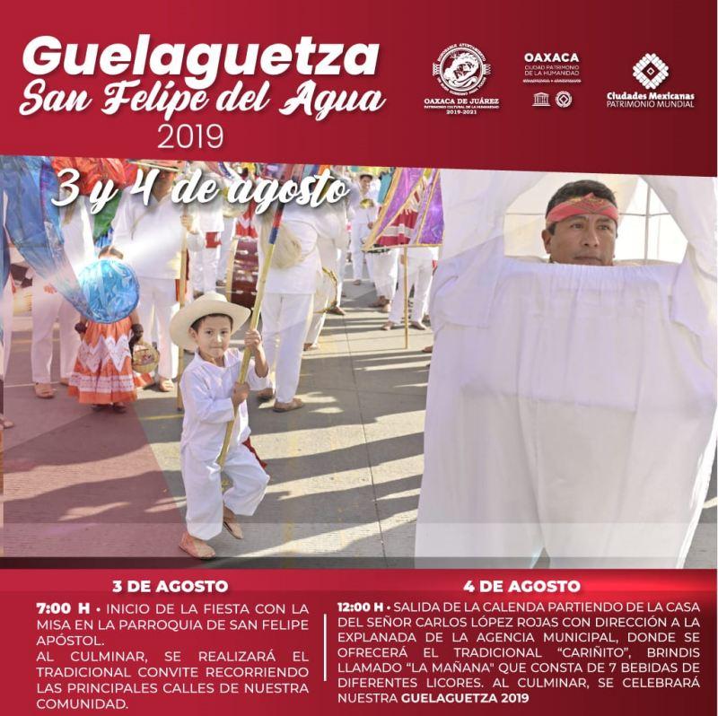 San Felipe del Agua invita a disfrutar de su Guelaguetza 2019
