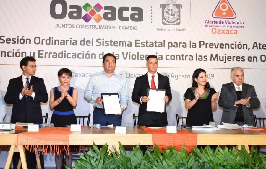 Refuerzan Oswaldo García y Alejandro Murat atención a la violencia de género en Oaxaca de Juárez