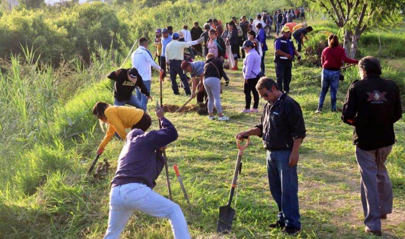 Gobierno de Xoxocotlán suma esfuerzos para reforestar el Río Atoyac