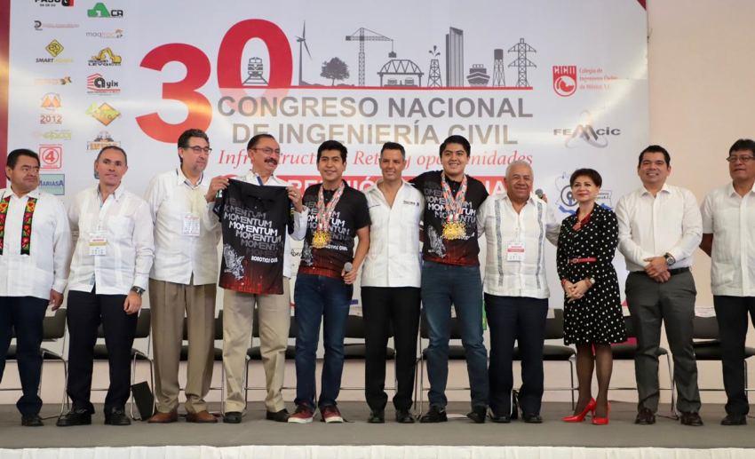 Gobierno de Oaxaca estrecha lazos de cooperación con ingenieros civiles