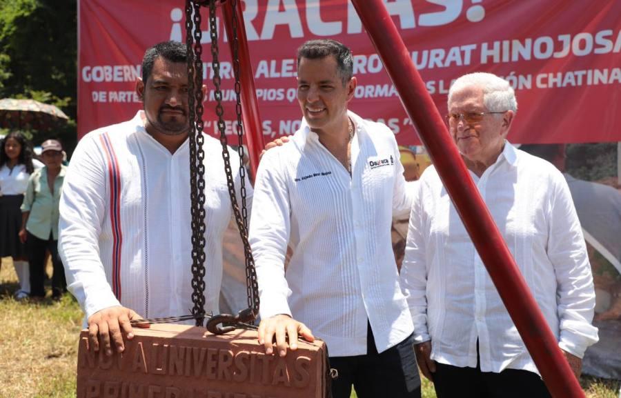 Inicia Murat construcción de la NovaUniversitas de Santos Reyes Nopala