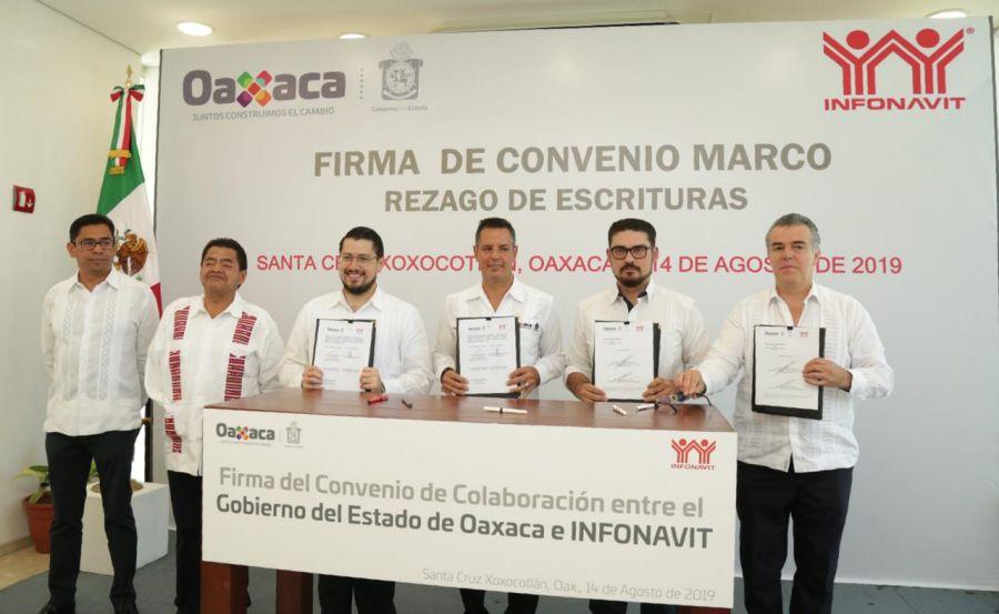 Firman Convenio de colaboración Infonavit y el Gobierno de Oaxaca