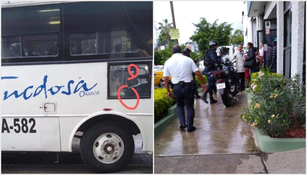 Una niña y dos adultos heridos por conductor que dispara contra autobús en Oaxaca