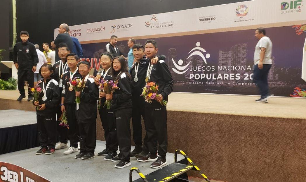 Oaxaca regresa con 17 medallas de Juegos Populares