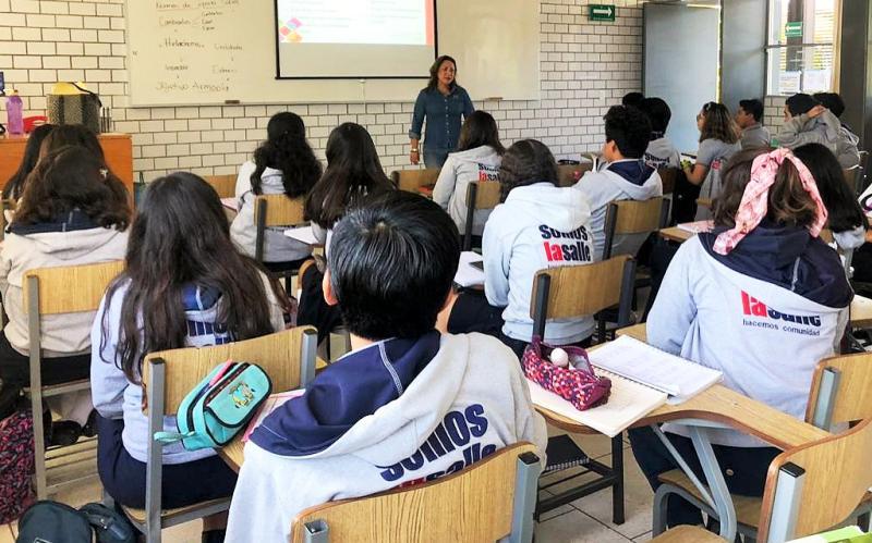 Imparte Coesida sesiones de prevención a estudiantes de bachillerato de la Universidad La Salle