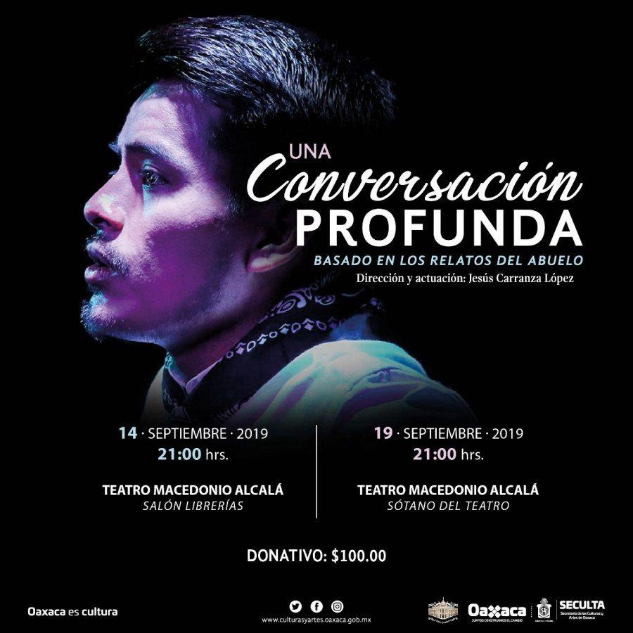 """Por primera vez en Oaxaca, """"Una conversación profunda"""": Seculta"""