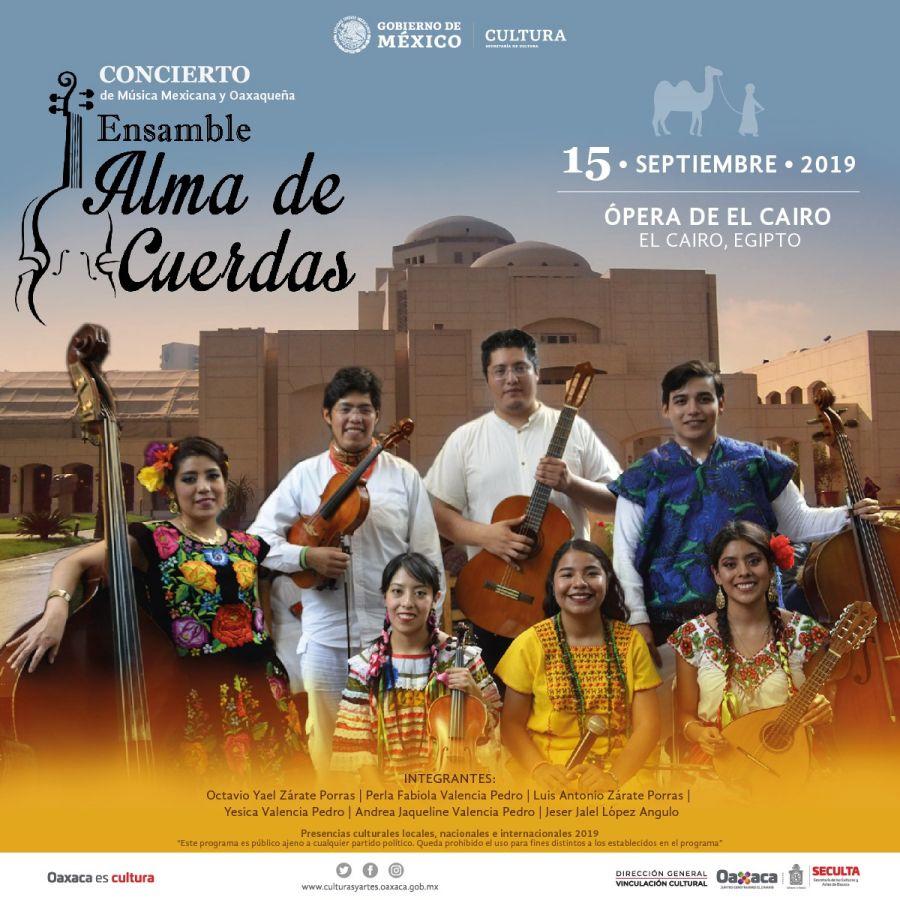 """Estará """"Alma de Cuerdas"""" de Oaxaca en El Cairo, Egipto: Seculta"""