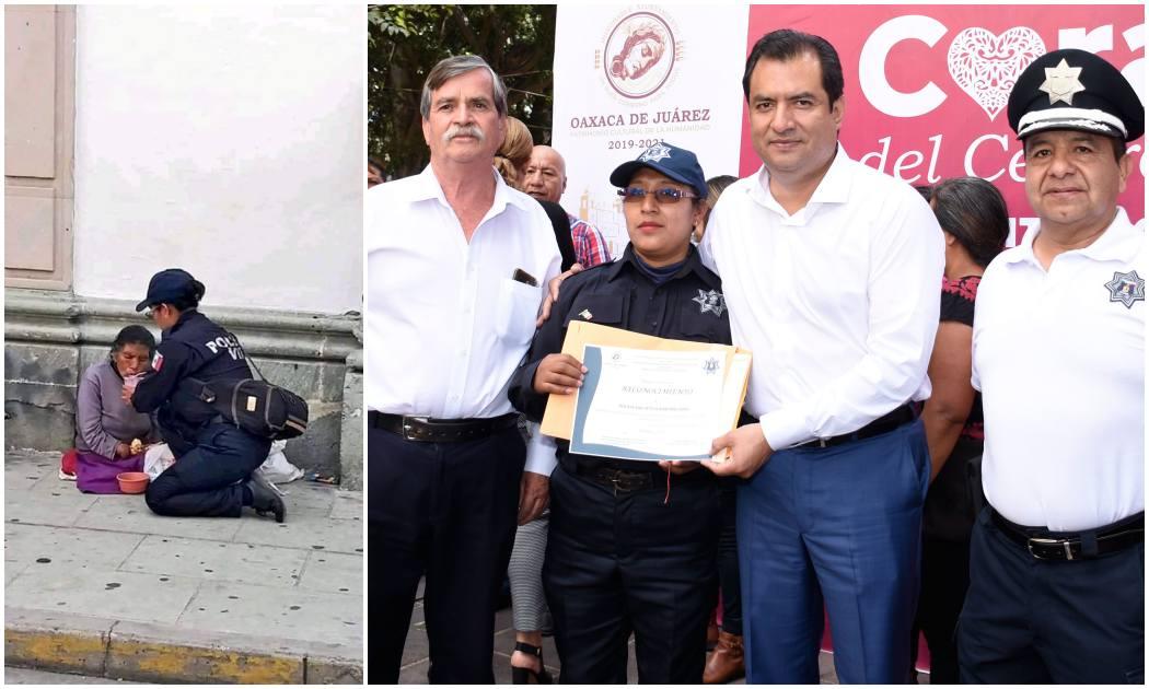 Reconoce edil Oswaldo García generosidad de mujer policía