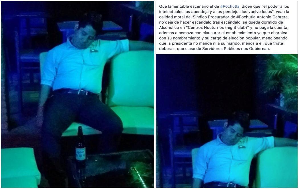 Sindico Procurador de San Pedro Pochutla se queda dormido en prostíbulo