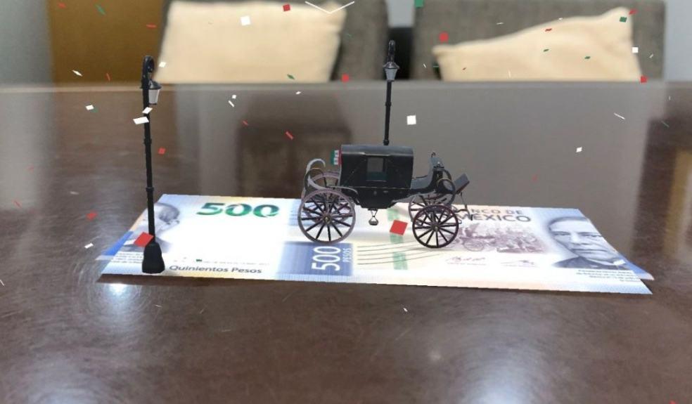 Billetes de 500 y 200 pesos cobran vida con realidad aumentada