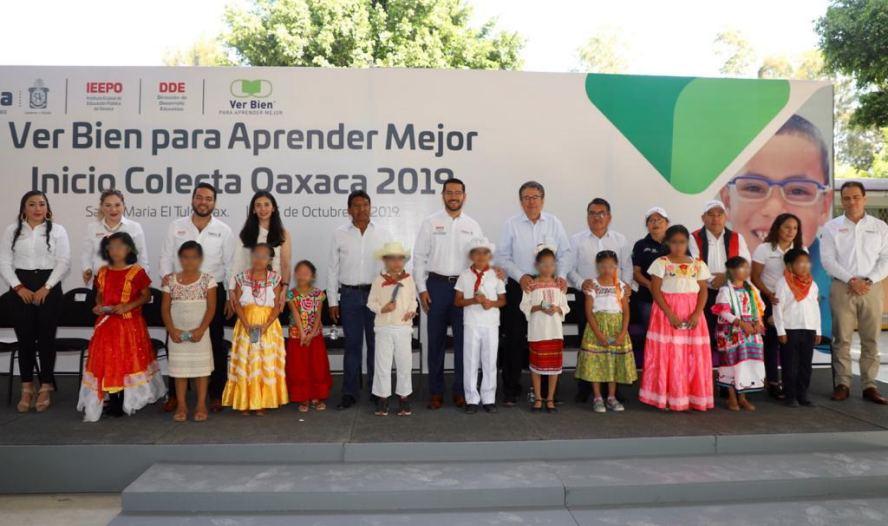 """Inician IEEPO y Fundación """"Ver bien para aprender mejor"""" Colecta Oaxaca 2019"""
