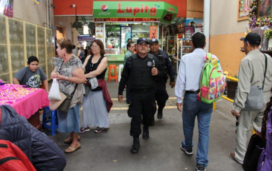 Policía Municipal refuerza vigilancia en mercados de la capital