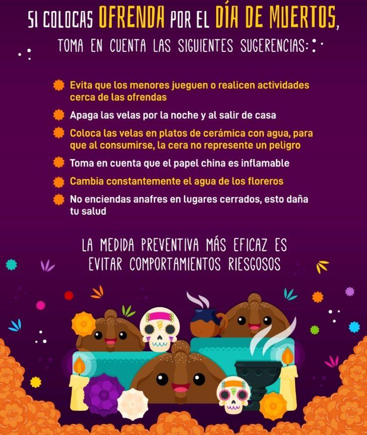 Emite SSO medidas preventivas en festividades de Día de Muertos