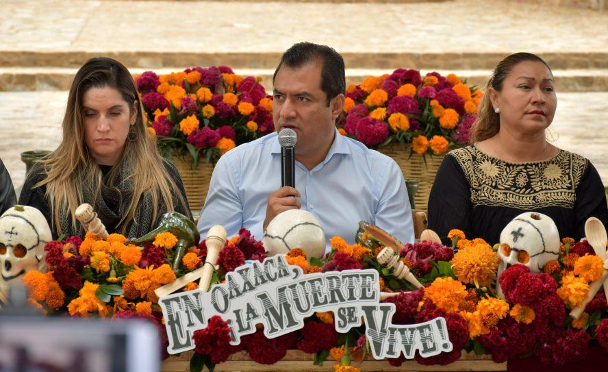 Oswaldo García presenta programa del Día de Muertos 2019 en Oaxaca de Juárez