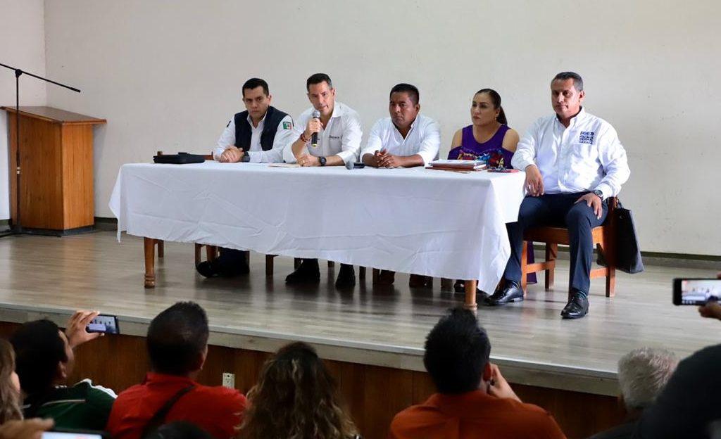 Alejandro Murat reafirma compromiso de su gobierno con la seguridad de Tuxtepec