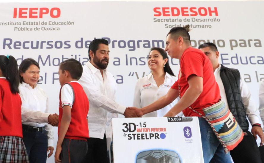 """Da inicio el programa """"Vamos Juntos a la Escuela"""" en San Pablo Huixtepec"""