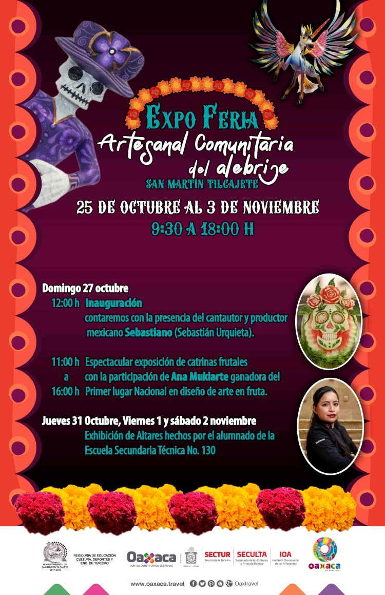 Celebrará San Martín Tilcajete el Día de Muertos con Expo Feria Artesanal