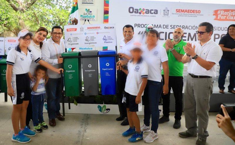 """Integra Semaedeso a Santa María Huatulco en el Programa Estatal """"Reciclemos por Oaxaca"""""""