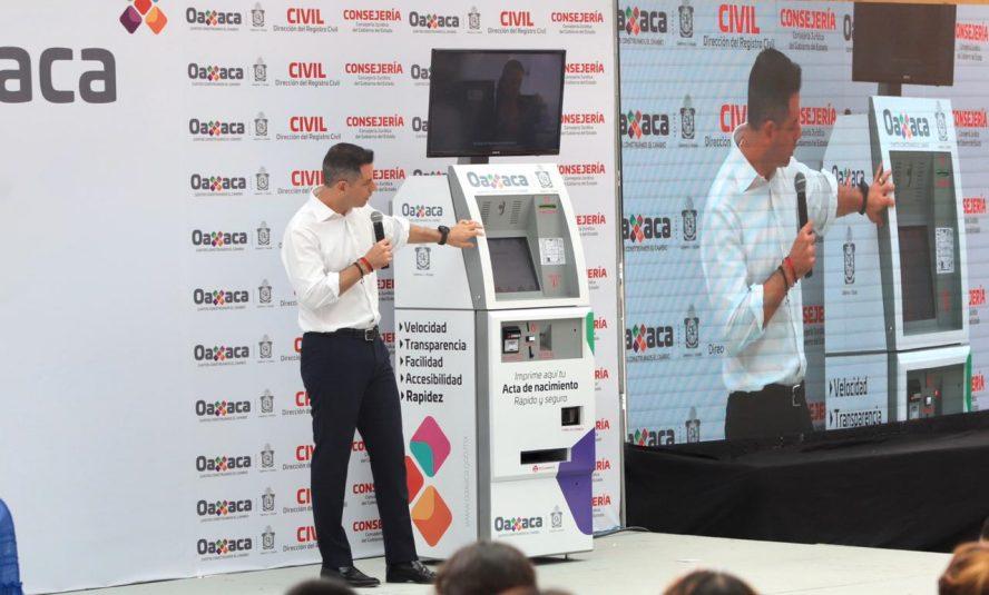 Actas de nacimiento digitales en Oaxaca: Murat