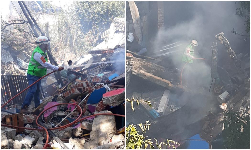 Seis personas lesionadas por explosión en panadería de Oaxaca