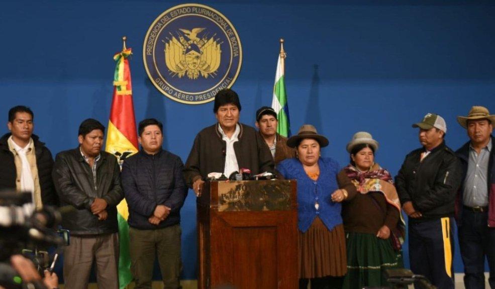 Evo Morales anuncia nuevas elecciones en Bolivia tras informe de la OEA