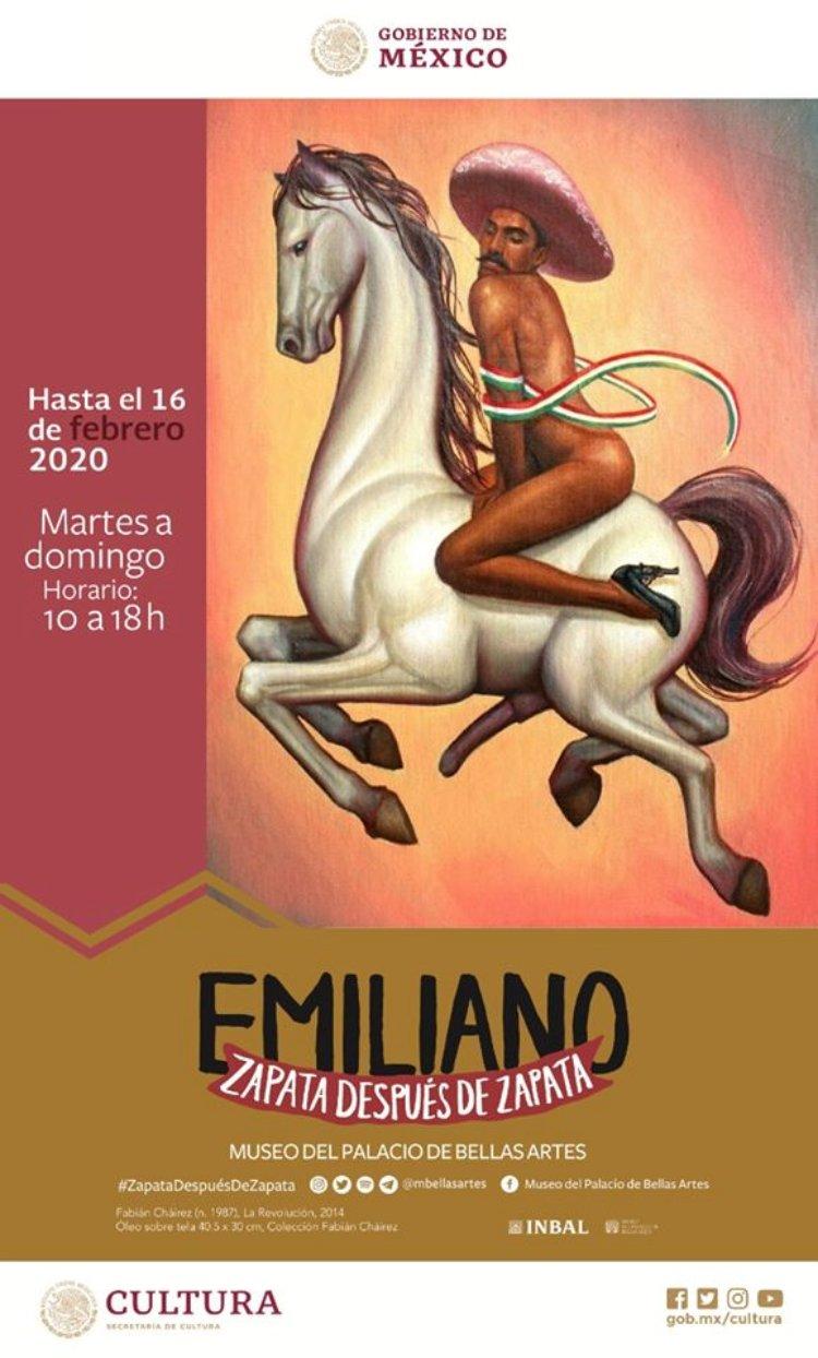 Crean polémica en redes sociales por cartel de Emiliano Zapata femenino