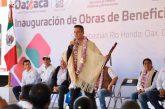 Entrega Alejandro Murat infraestructura social y apoyos a habitantes de San Sebastián Río Hondo
