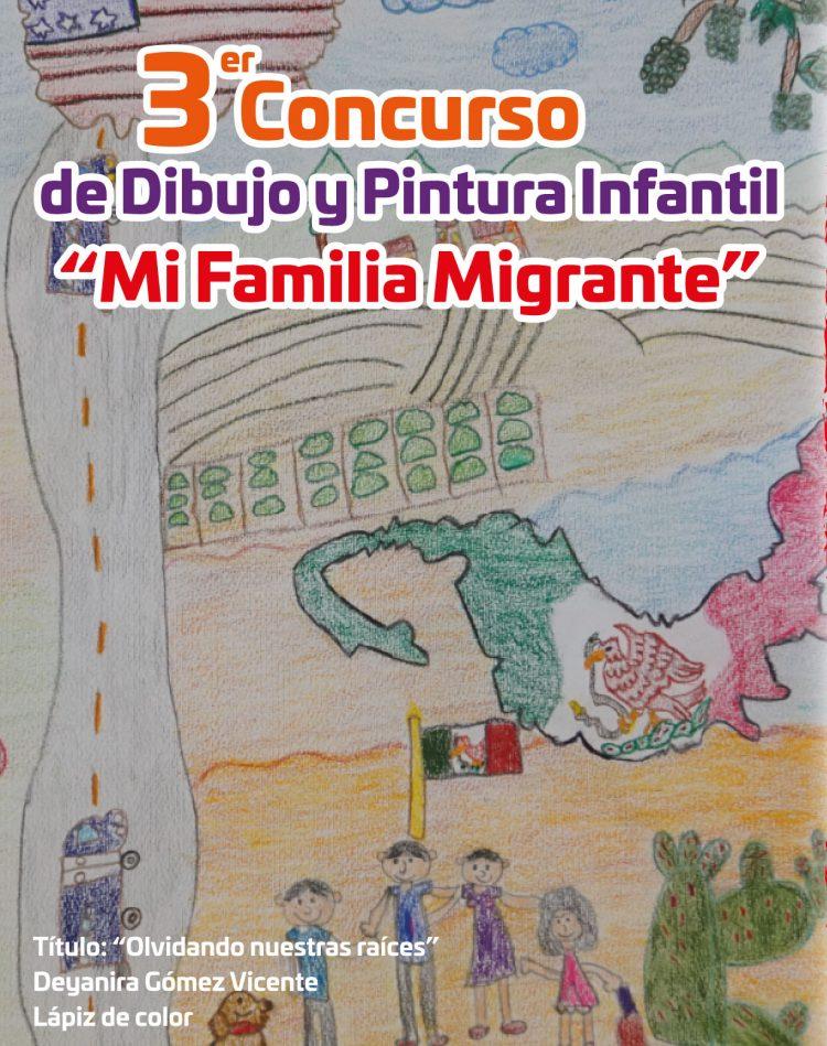 "Convoca IOAM al Tercer Concurso de Dibujo y Pintura Infantil""Mi Familia Migrante"""