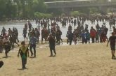 Guardia Nacional repliega a migrantes en la frontera México-Guatemala