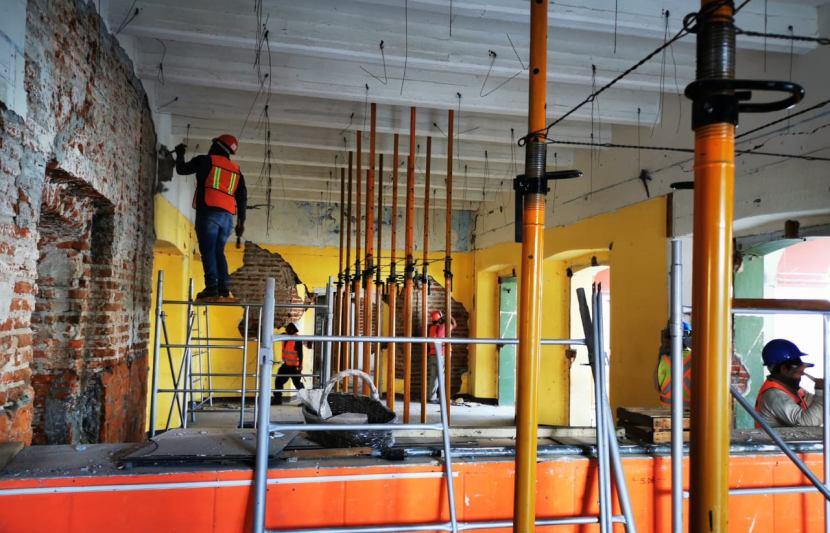 Verifica Inpac avances en trabajos de reconstrucción en Juchitán de Zaragoza