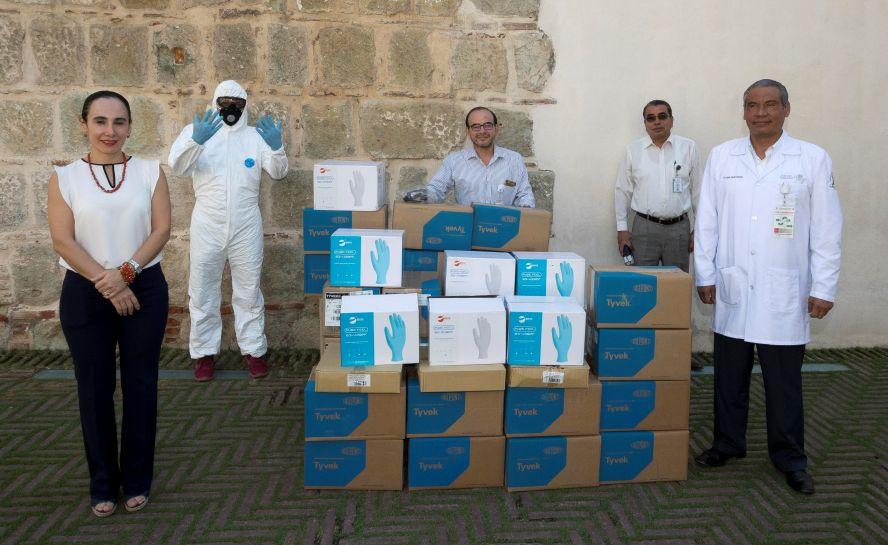 Dona la FAHHO equipo médico a instituciones de salud de Oaxaca que se esfuerzan por combatir el COVID-19