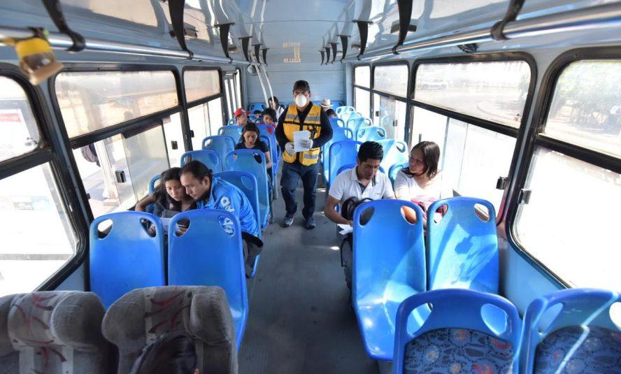 Policía Vial y Semovi refuerzan acciones para evitar el sobrecupo en el transporte público