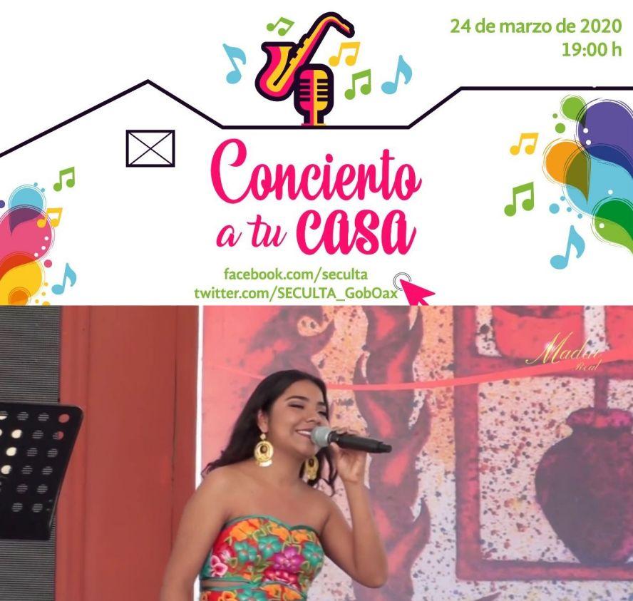 """Este martes Madai Real ofrecerá recital gratuito en """"Concierto a tu casa"""""""