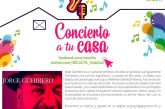 """Comparte Jorge Guerrero su música a través de  """"Concierto en tu Casa"""""""