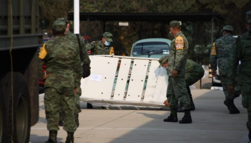 Sedena suma esfuerzos con Oaxaca para dotar de equipamiento e insumos a hospitales COVID