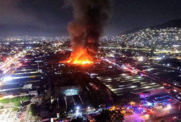 Incendio en la Central de Abasto de Oaxaca