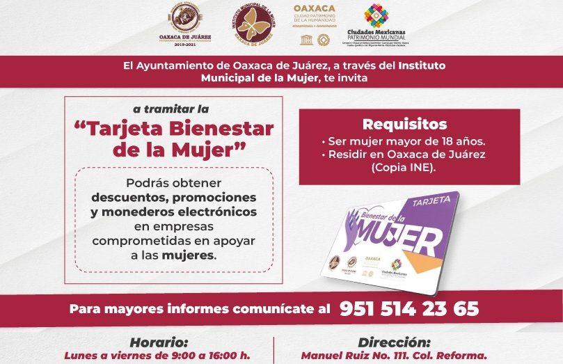 Beneficia Ayuntamiento de Oaxaca a 1,530 mujeres con la Tarjeta Bienestar