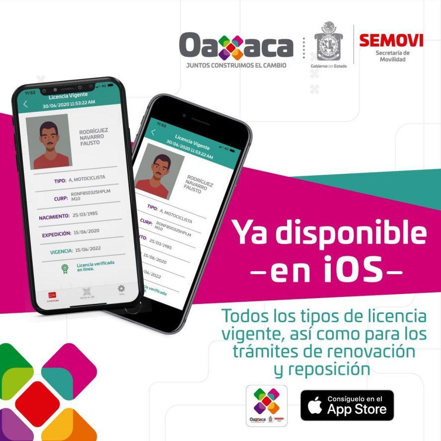 Oaxaca el segundo estado del país en contar con licencias digitales