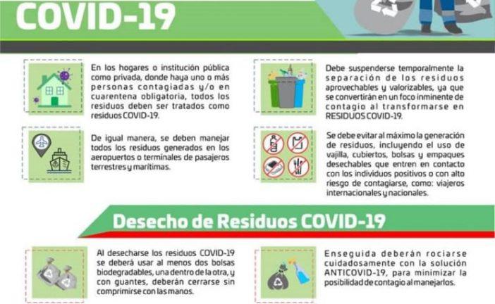 La Semaedeso da a conocer las medidas del manejo preventivo de los residuos COVID-19