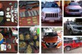 Coordina y ejecuta Fiscalía de Oaxaca cateo en región del Istmo de Tehuantepec; asegura armas, drogas, vehículos y detiene a una mujer