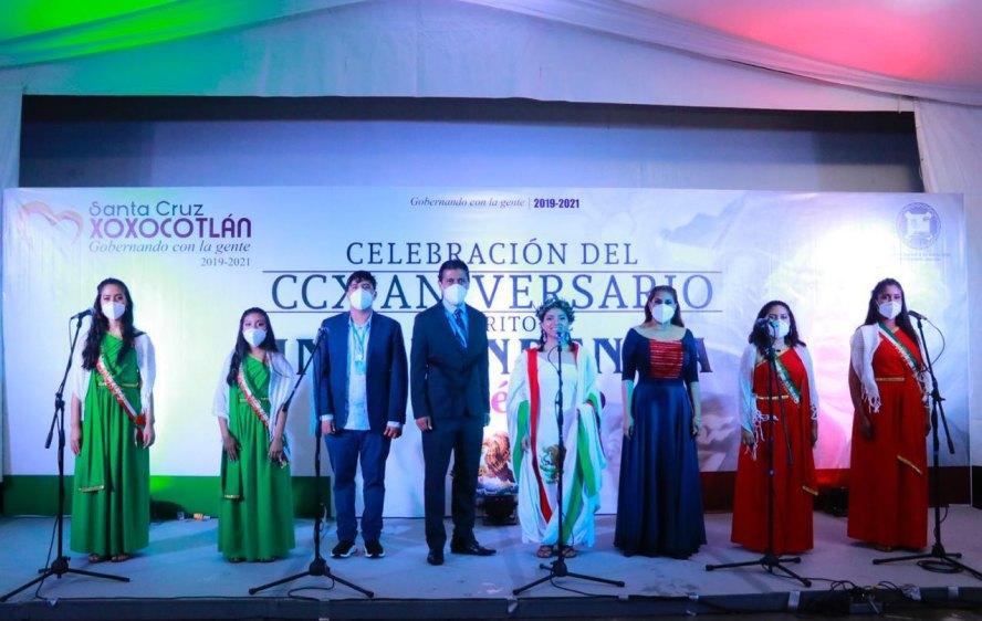 Por COVID, se realizó Grito de Independencia virtual en Xoxocotlán