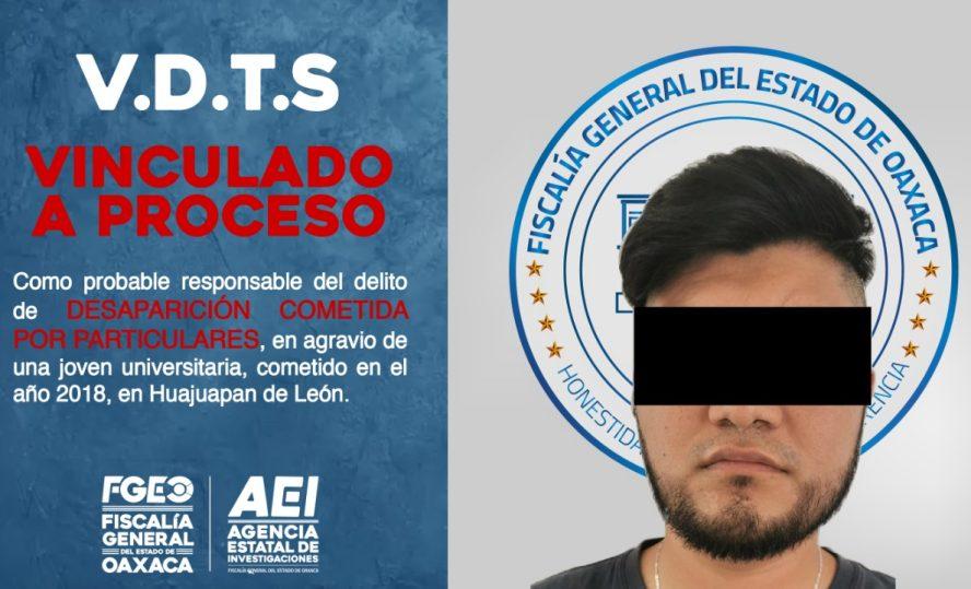 Probable responsable de desaparición de joven universitaria de Huajuapan, ya está en prisión: Fiscalía de Oaxaca