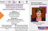 Impartirán conferencia sobre qué hacer en casos de violencia política en razón de género
