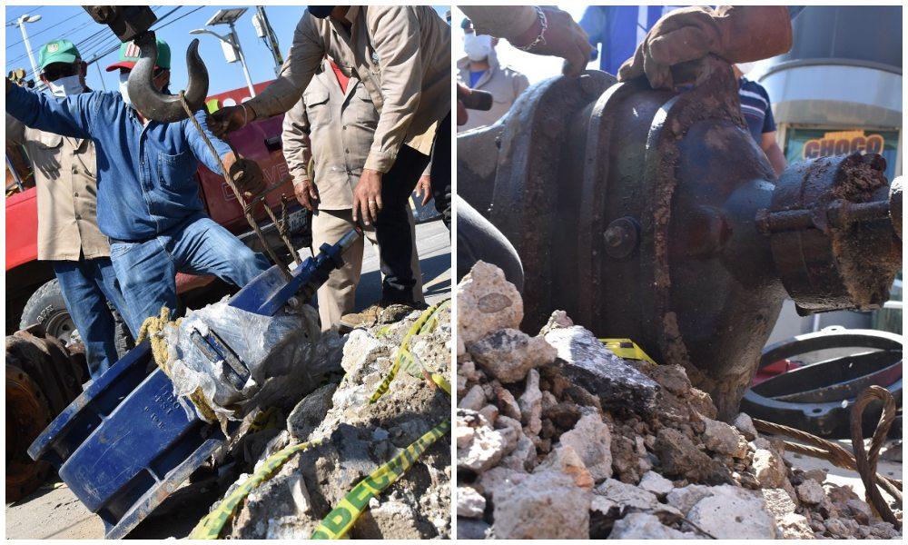 Personal de SAPAO realiza el cambio de válvula de seccionamiento en la agencia de Candiani