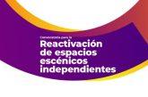Emiten convocatoria para la reactivación de espacios escénicos independientes
