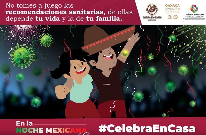 Exhorta Ayuntamiento de Oaxaca a respetar protocolos sanitarios en la Noche Mexicana