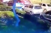 Recibe a balazos a asaltante desde su carro (VIDEO)